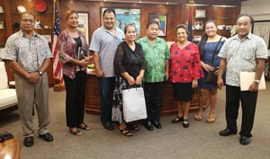 Courtesy call on Guam Governor the Honorable Lourdes Leon Guererro, July 19, 2019